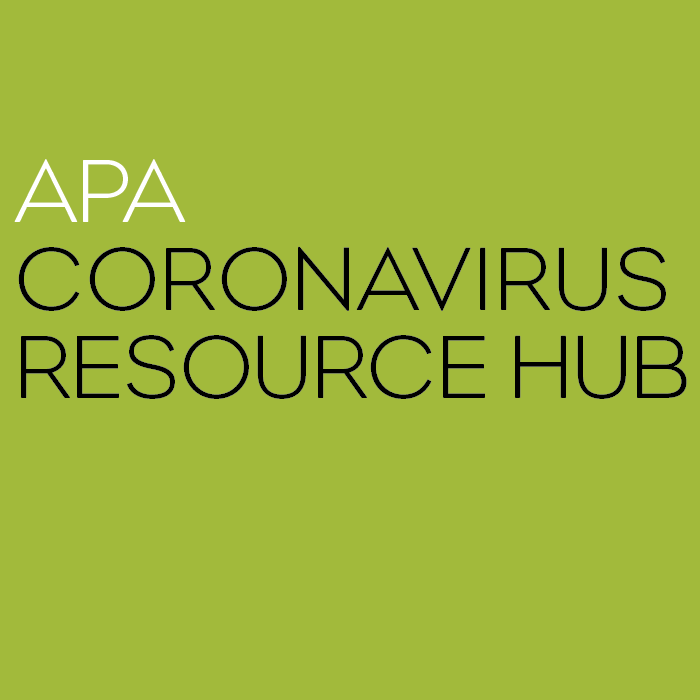 APA Coronavirus Resource Hub