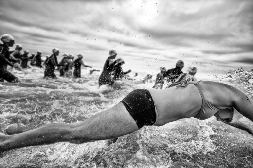 Kevin Steele's favorite image is a black & white shot from a triathlon