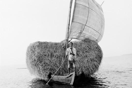 Man on fishing boat.