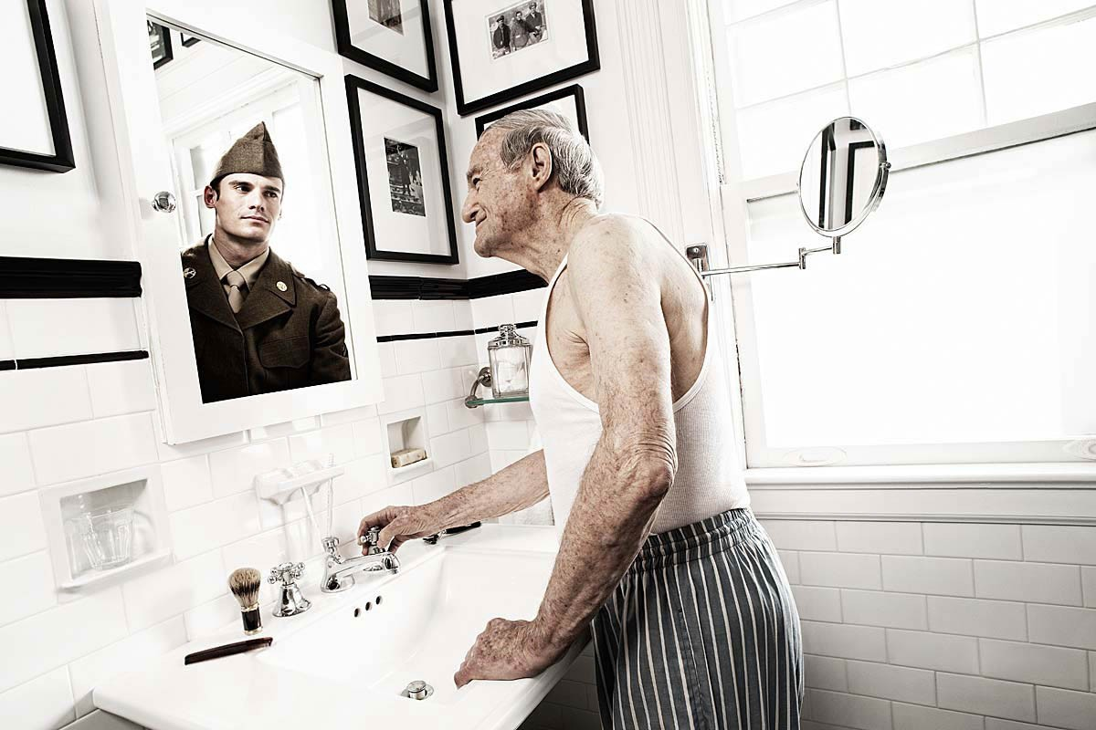 Reflections: Portraits of the Elderly Seeing Their Younger