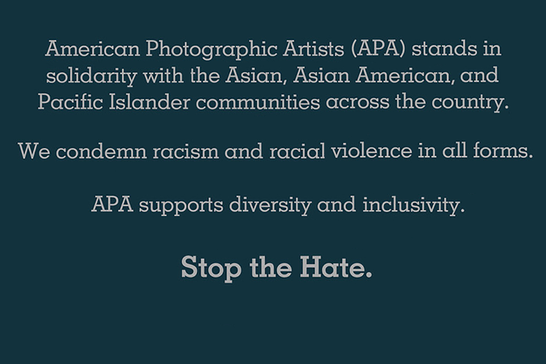 APA Statement in Support of Asian American and Pacific Islanders (AAPI)